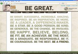 BE GREAT AMERICA web site screengrab
