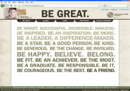 BE GREAT AMERICA web site screengrab
