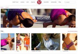Lululemon Website