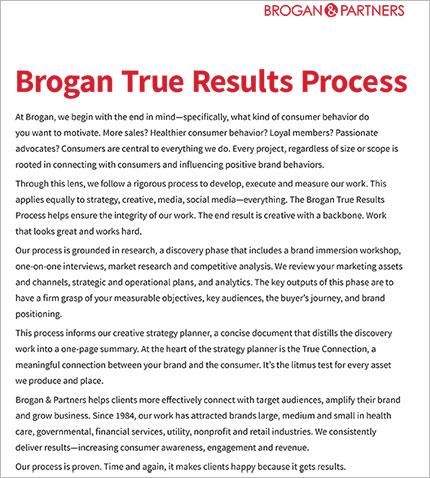 Brogan True Results Process