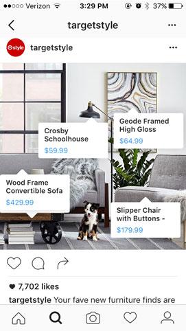 Instagram shopping capabilities