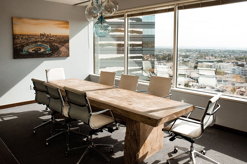 Modern corporate office conference room
